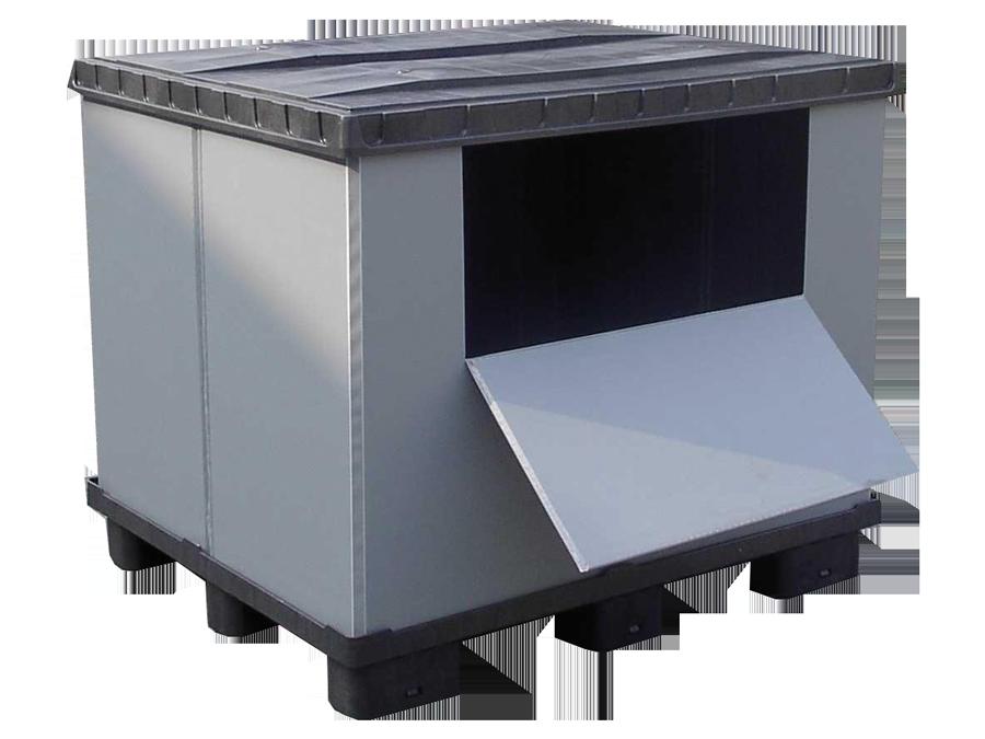 Box con sportello aperto